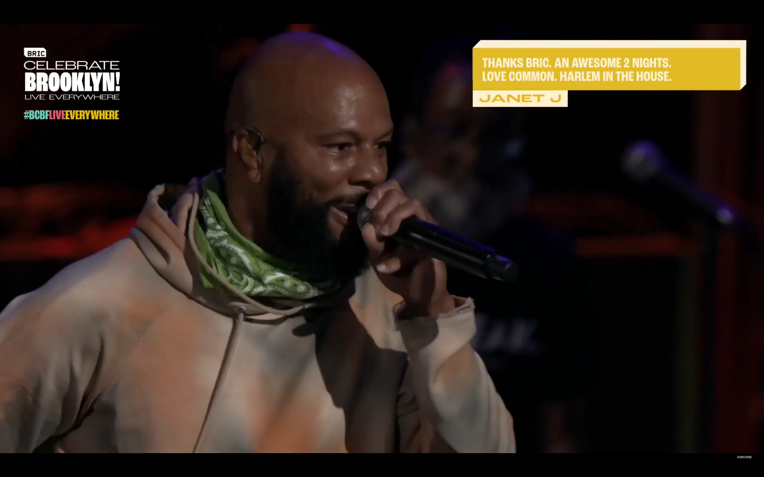 Common performing for BRIC Celebrate Brooklyn