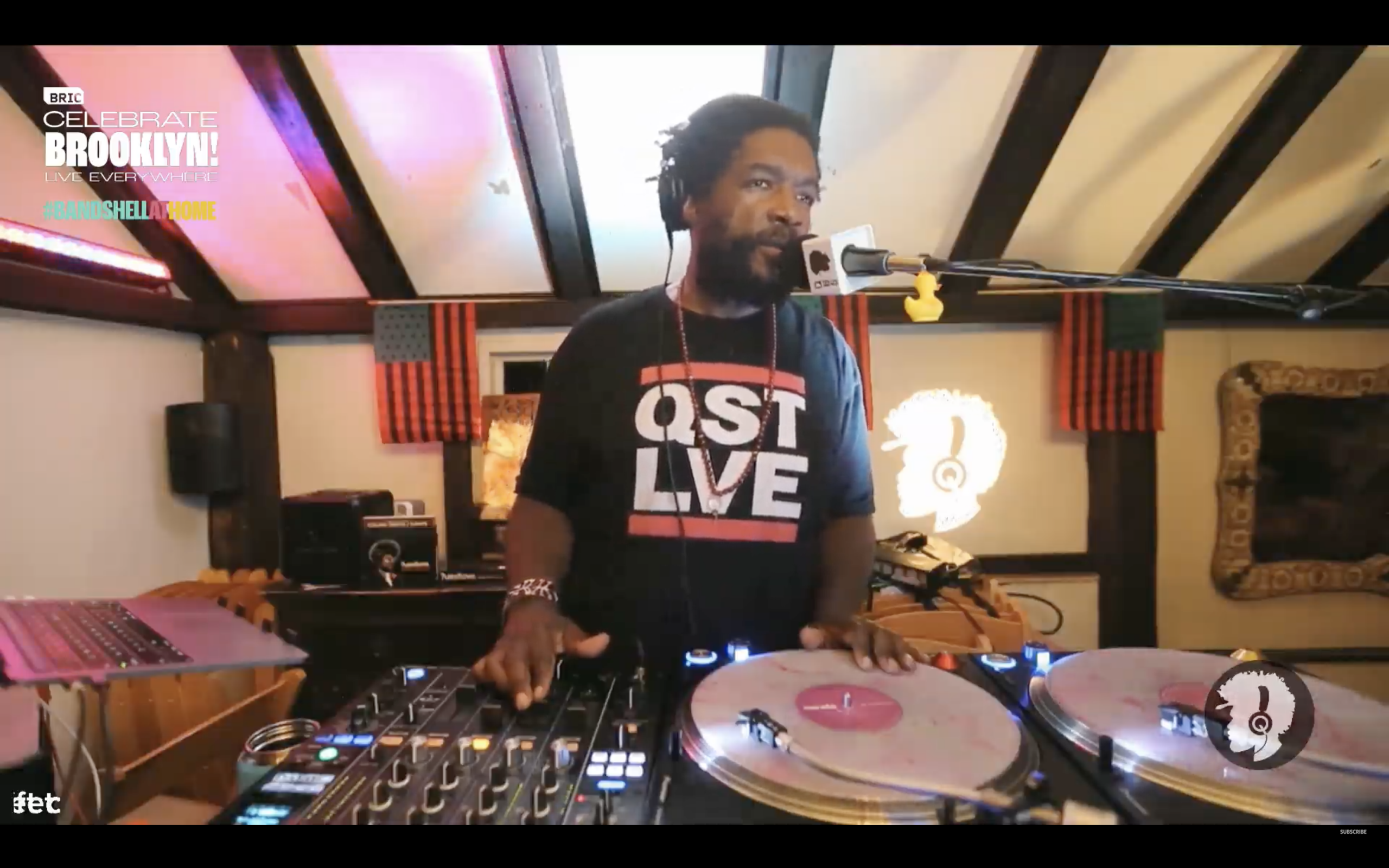 Questlove performing from home at BRIC Celebrate Brooklyn