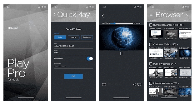 Haivision Play Pro Android Screenshots