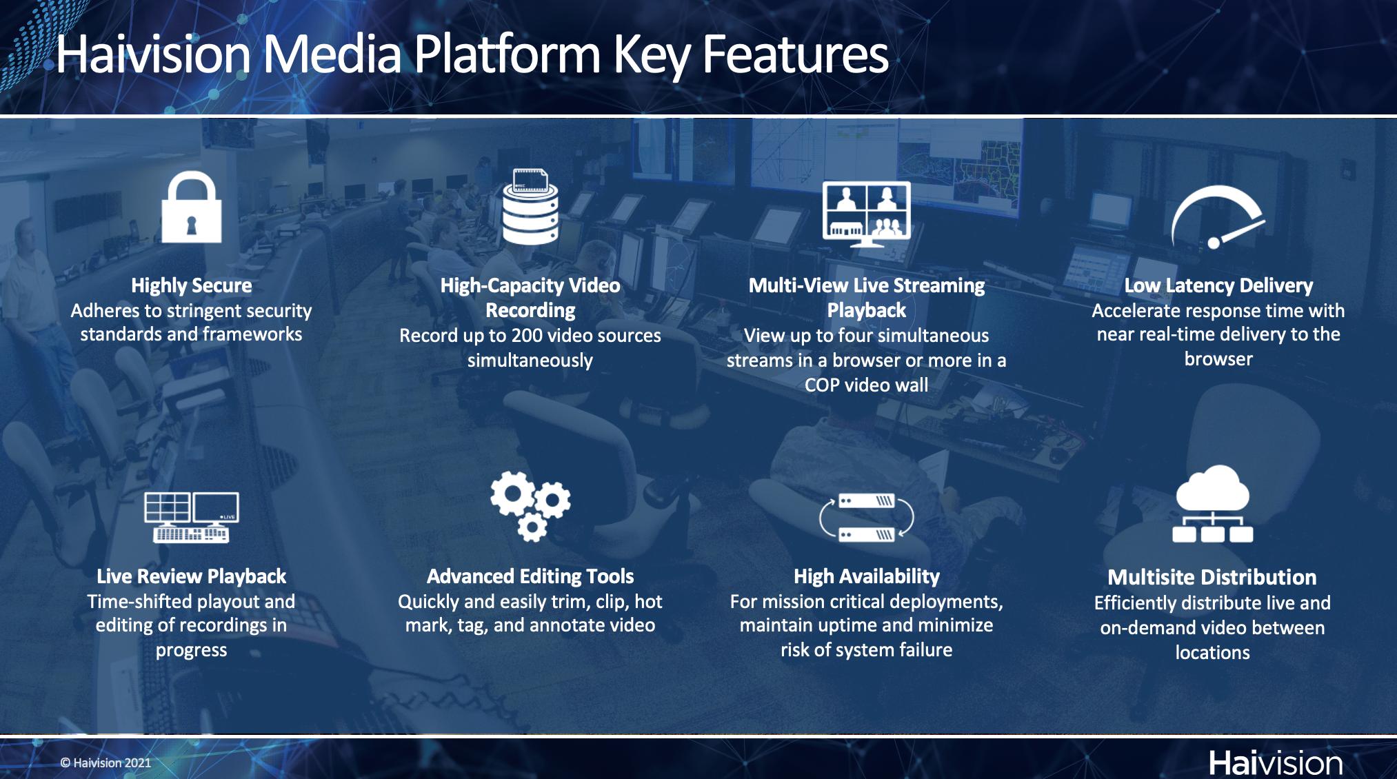 Haivision Media Platform Key Features