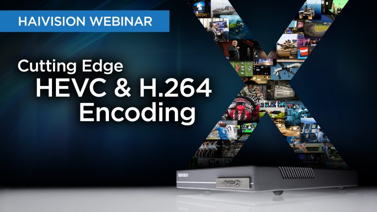 Webinar Cutting Edge HEVC & H.264 Encoding