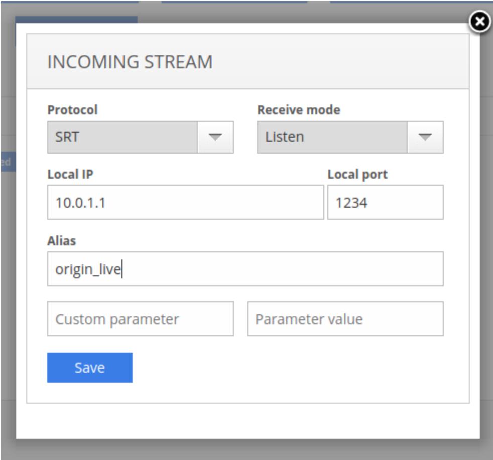 Add SRT stream