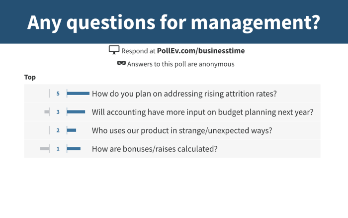 All hands management questions