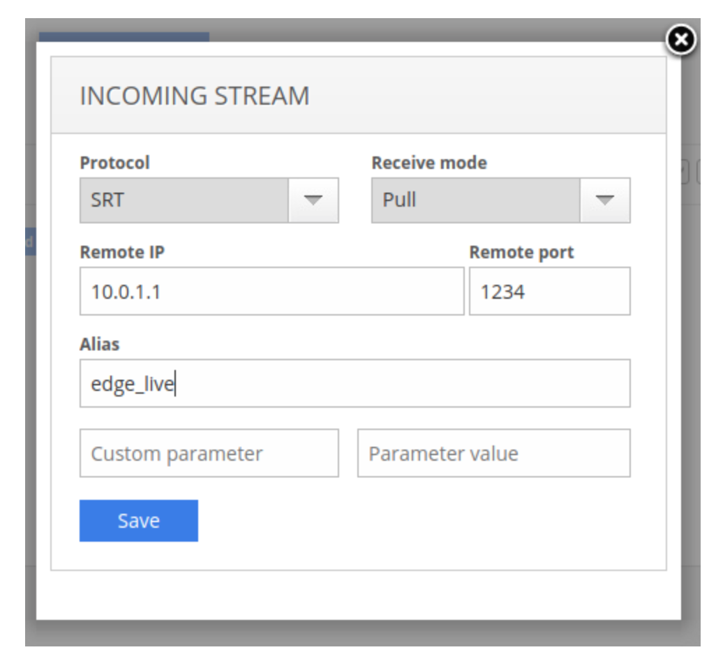 MPEGTS settings