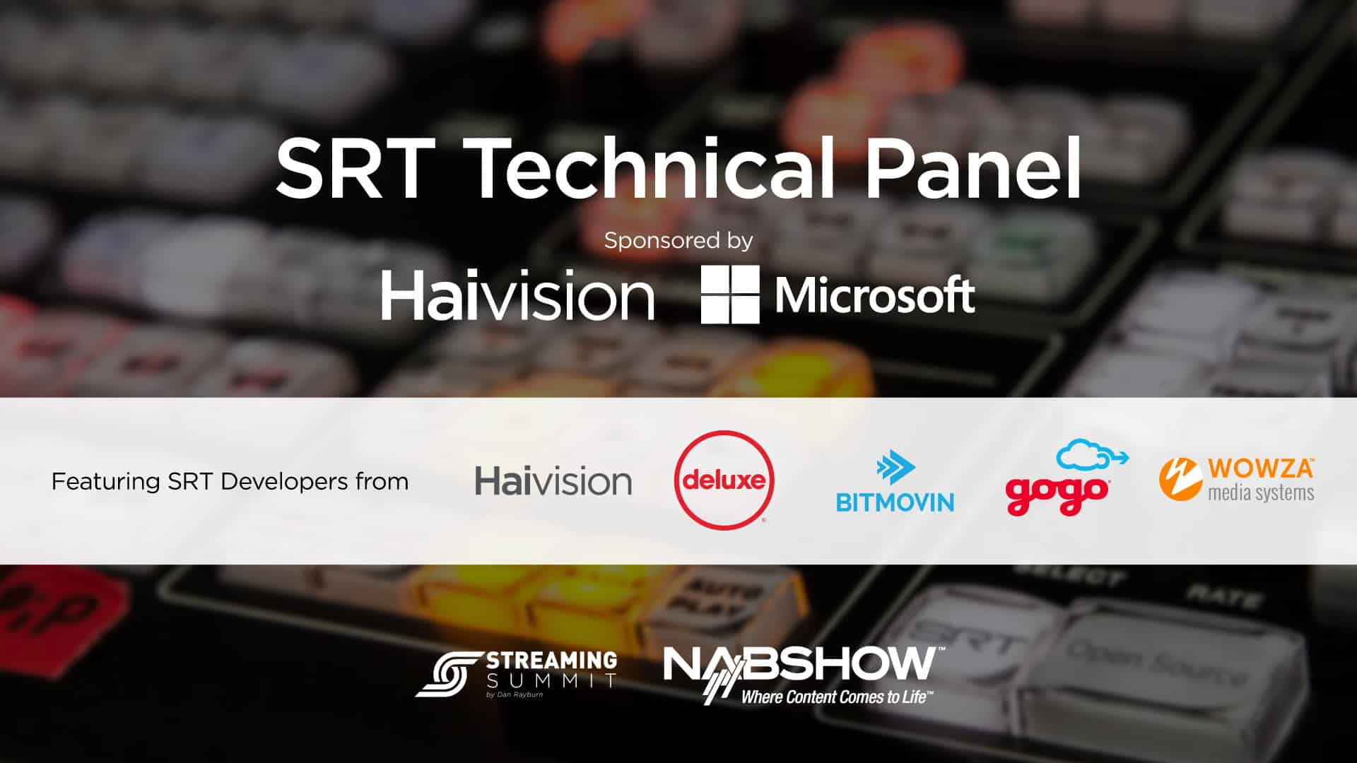 SRT Technical Panel | Haivision