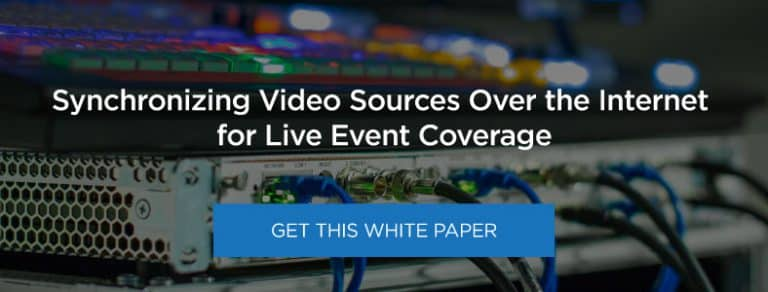 Synchronizing Video Sources Over the Internet for Live Event Coverage
