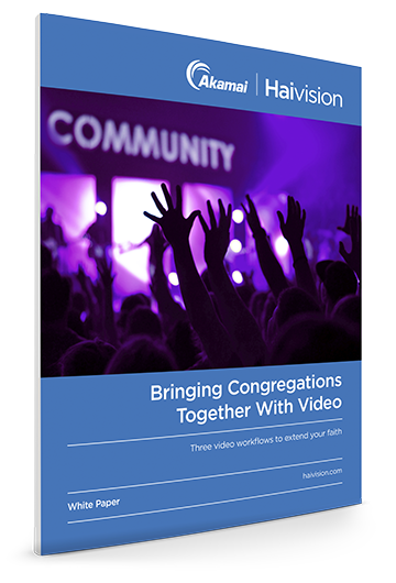 Bringing conregations together with video