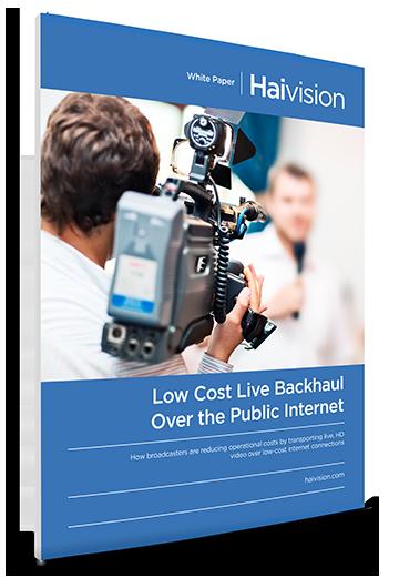 low cost live backhaul over the public internet